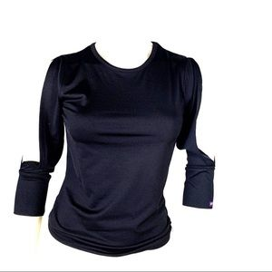 Tops - Black Dex shirt with slits in the sleeves